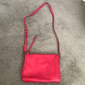 Red Fossil Crossbody bag